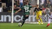 Berardi in contropiede realizza l'1-0 in Sassuolo-Genoa