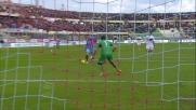 Bergessio finalizza il contropiede del Catania segnando il quarto goal a Frey