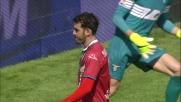 Berisha protegge il suo palo e para il tiro di Saponara