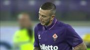 Bernardeschi calcia di potenza contro il Milan, ma il pallone finisce alto