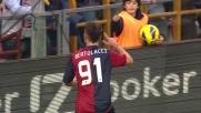 Bertolacci insacca a porta vuota il goal del momentaneo vantaggio contro il Napoli
