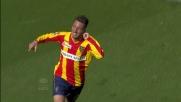 Bertolacci trasforma in rete l'azione di Di Michele: Lecce in vantaggio sull'Udinese
