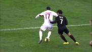 Pato aggancia Masiello: è calcio di rigore per il Bari al San Nicola