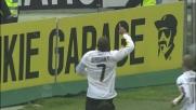 Biabiany castiga una difesa disattenta e di testa segna il goal dell'1-0 all'Udinese