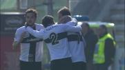 Biabiany con un tiro dal limite segna il primo goal contro il Verona