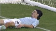 Biava con un super recupero salva sulla linea un goal di Jeda
