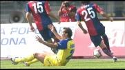 Biava ferma Bogdani in area con un fallo: l'arbitro assegna il rigore al Chievo