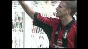 Bierhoff approfitta dell'errore di Olive e segna un goal contro il Perugia