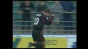 Bierhoff sfrutta il cross di Coco per il goal del vantaggio del Milan a Bari