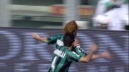 Biondini con un bel colpo di testa beffa Perin al Mapei Stadium