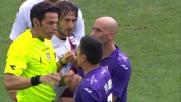 Pizarro protesta e viene mandato negli spogliatoi