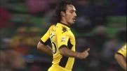 Bolzoni segna un goal nel sette della porta dell'Udinese