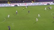 Borja Valero realizza il goal del definitivo 3-0 contro l'Udinese