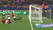 Borriello con una zampata porta in vantaggio la Roma contro il Genoa