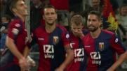 Borriello segna di testa il goal del pareggio contro il Palermo
