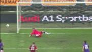 Boruc respinge il bolide su punizione di Ibrahimovic