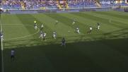 Tackle duro di Moisander che gli vale l'ammonizione contro l'Udinese