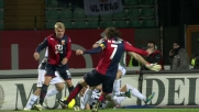 Brkic non trattiene e Marco Rossi insacca di sinistro il goal dell'1 a 0