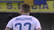 Brozovic al volo per poco non trova un gran goal