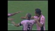 Toni segna di testa il goal del 3-1 contro la Lazio e fa esplodere il Barbera