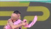 Budan segna il primo goal al Novara con un colpo di testa