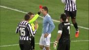 Buffon atterra Klose: rigore per la Lazio ed espulsione del portiere