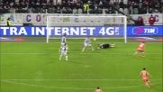 Buffon respinge il tiro di Fernandes e para il tap-in di Di Natale
