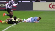 Buffon travolge Klose e viene espulso