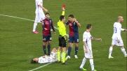 Burdisso abbatte Mati Fernandez e viene espulso