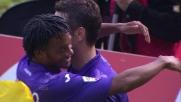 Rodriguez dal penalty non sbaglia e segna il goal vittoria della Fiorentina