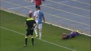Cacciatore colpisce con un calcio violento Marcos Alonso: solo ammonizione per lui