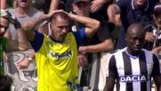 Cacciatore impreciso, palla fuori e goal mancato in Udinese-Chievo