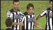 Calaiò di testa segna il goal del vantaggio del Siena a Cagliari