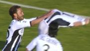 Calaiò firma il goal del 2-0 per il Siena contro il Cagliari