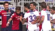 Calcio d'angolo comico per Diamanti contro il Cagliari