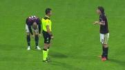 Calcio di rigore per la Sampdoria contro il Milan: fallo di Poli su Eder