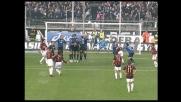 Calderoni nega la gioia del goal su punizione a Pirlo