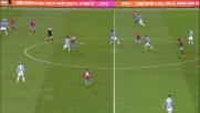 Callejon segna con un pallonetto il secondo goal del Napoli alla Lazio