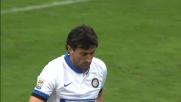Cambiasso liscia il pallone sul più bello: il Cagliari ringrazia