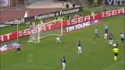 Candreva batte Castellazzi con un tiro potente: rimonta della Lazio riuscita a San Siro