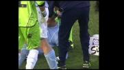 Cannavaro, una palla in faccia lo stende