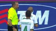 Cannavaro viene espulso per gioco falloso