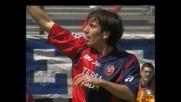 Capone: tempismo e fortuna per il goal del vantaggio del Cagliari sul Parma
