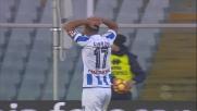 Caprari e Pepe non riescono a trasformare in goal il cross di Benali contro il Cagliari