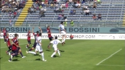 Caracciolo calcola male il tempo, colpo di testa fuori contro il Cagliari