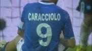 Caracciolo sbaglia un goal contro il Napoli: la sua deviazione è sul palo