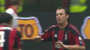 Cassano firma il goal del pareggio del Milan sul Bari