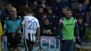 Cassano scherza con Lodi durante il match del Friuli fra Udinese e Sampdoria