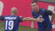 Cassano segna di testa in Inter-Catania