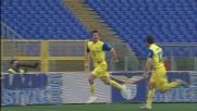 Cesar su azione da corner segna il goal del pareggio contro la Lazio